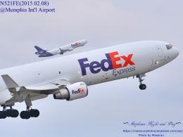 masarunphotosさんが、メンフィス国際空港で撮影したフェデックス・エクスプレス MD-11Fの航空フォト(飛行機 写真・画像)