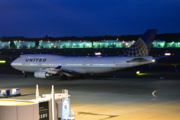 Cherry blossoms さんが、成田国際空港で撮影したユナイテッド航空 747-422の航空フォト(飛行機 写真・画像)