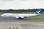 Cozy Gotoさんが、成田国際空港で撮影したキャセイパシフィック航空 747-867F/SCDの航空フォト(写真)