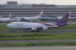 やつはしさんが、羽田空港で撮影したタイ国際航空 747-4D7の航空フォト(写真)