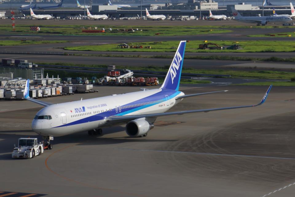 やつはしさんの全日空 Boeing 767-300 (JA619A) 航空フォト