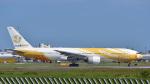 パンダさんが、成田国際空港で撮影したノックスクート 777-212/ERの航空フォト(写真)