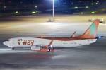 ういるばさんが、中部国際空港で撮影したティーウェイ航空 737-8Q8の航空フォト(飛行機 写真・画像)