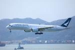 garrettさんが、香港国際空港で撮影したキャセイパシフィック航空 A350-941XWBの航空フォト(写真)