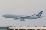 OS52さんが、香港国際空港で撮影したキャセイパシフィック航空 A330-342Xの航空フォト(写真)