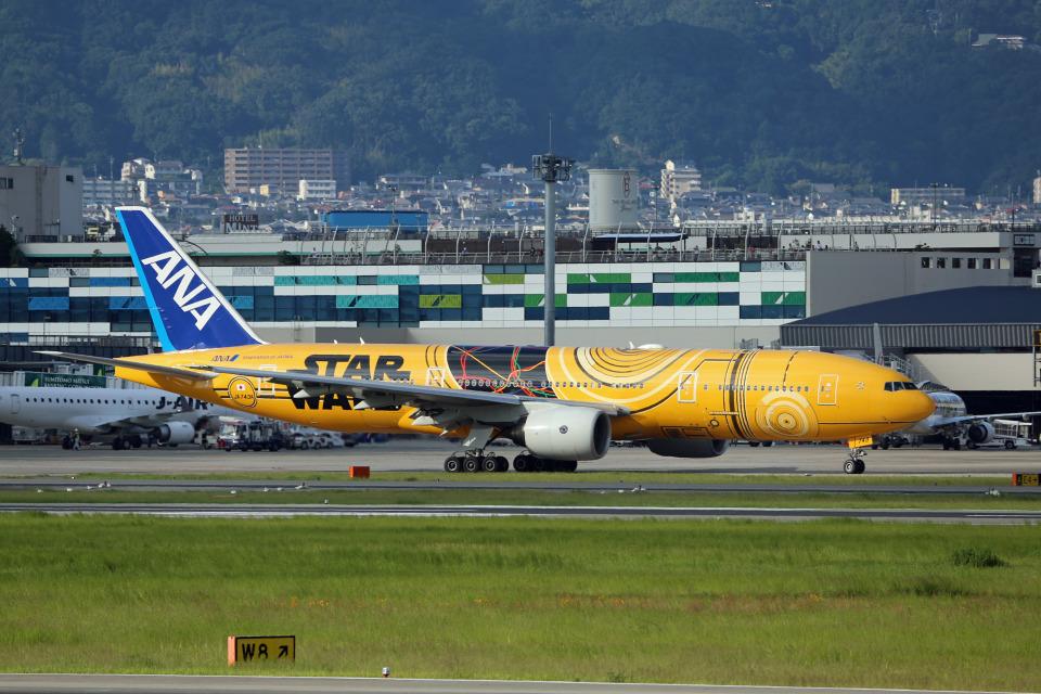 takepapaさんの全日空 Boeing 777-200 (JA743A) 航空フォト