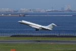 メンチカツさんが、羽田空港で撮影したビスタジェット BD-700-1A10 Global 6000の航空フォト(写真)