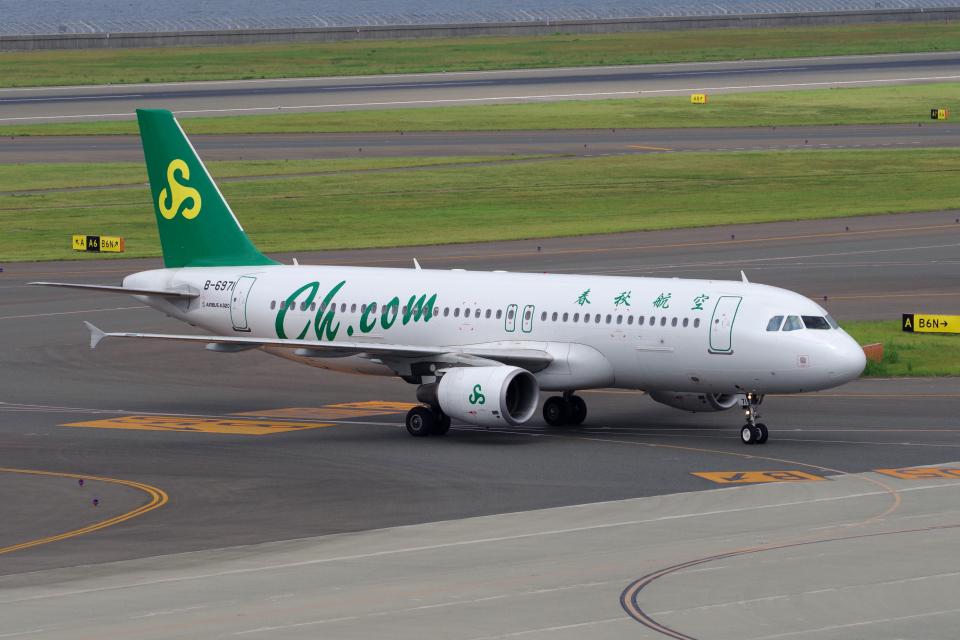 yabyanさんの春秋航空 Airbus A320 (B-6971) 航空フォト