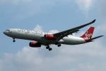採れたてほしいもさんが、ロンドン・ヒースロー空港で撮影したヴァージン・アトランティック航空 A330-343Xの航空フォト(写真)