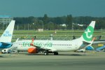 panchiさんが、アムステルダム・スキポール国際空港で撮影したトランサヴィア 737-8EH/SFPの航空フォト(飛行機 写真・画像)