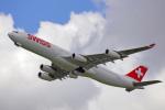 ちゃぽんさんが、成田国際空港で撮影したスイスインターナショナルエアラインズ A340-313Xの航空フォト(飛行機 写真・画像)