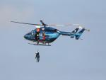 ノビタ君さんが、茨城空港で撮影した茨城県警察 BK117C-1の航空フォト(写真)