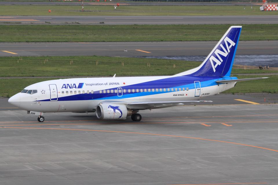 キイロイトリさんのANAウイングス Boeing 737-500 (JA306K) 航空フォト