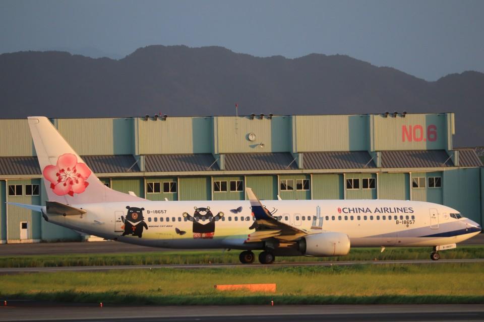flyflygoさんのチャイナエアライン Boeing 737-800 (B-18657) 航空フォト