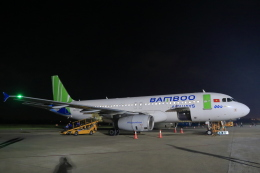 やまさんが、ビン空港で撮影したバンブー・エアウェイズ A320の航空フォト(飛行機 写真・画像)