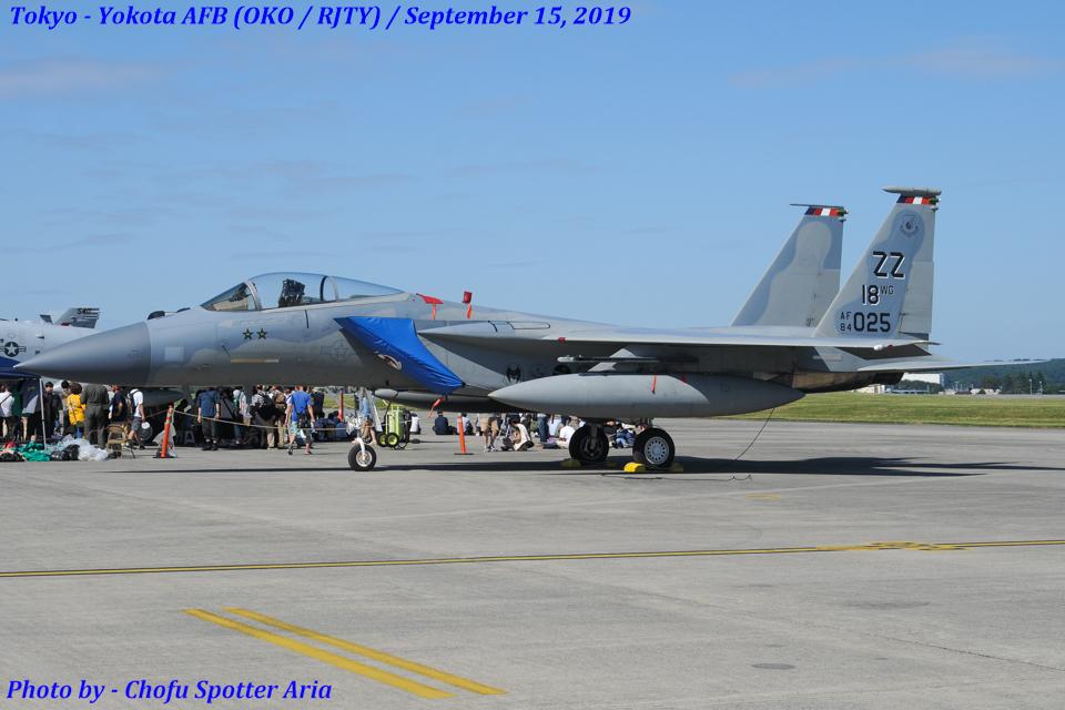 Chofu Spotter Ariaさんのアメリカ空軍 McDonnell Douglas F-15 A/B/C/D/E (84-0025) 航空フォト