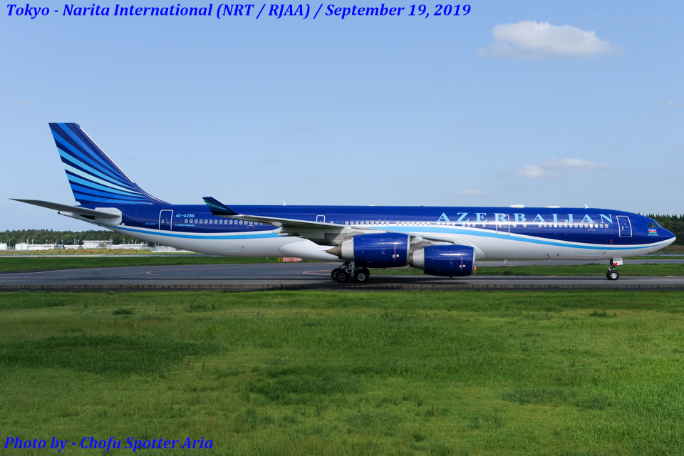 Chofu Spotter Ariaさんのアゼルバイジャン航空 Airbus A340-500 (4K-AZ86) 航空フォト