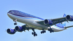 パンダさんが、成田国際空港で撮影したアゼルバイジャン航空 A340-542の航空フォト(飛行機 写真・画像)