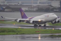 tg36aさんが、羽田空港で撮影したタイ国際航空 747-4D7の航空フォト(飛行機 写真・画像)