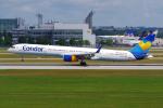 PASSENGERさんが、ミュンヘン・フランツヨーゼフシュトラウス空港で撮影したコンドル 757-330の航空フォト(写真)