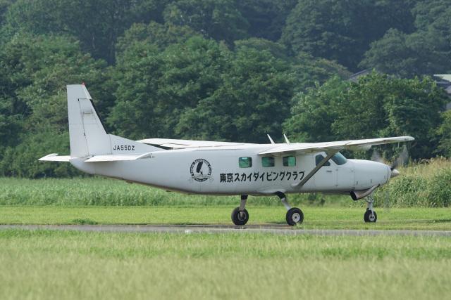 神宮寺ももさんが、ホンダエアポートで撮影したエビエーションサービス 208B Grand Caravanの航空フォト(飛行機 写真・画像)