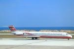 ぽっぽさんが、金門空港で撮影した遠東航空 MD-82 (DC-9-82)の航空フォト(写真)