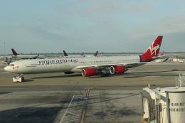 uhfxさんが、ジョン・F・ケネディ国際空港で撮影したヴァージン・アトランティック航空 A340-642の航空フォト(写真)