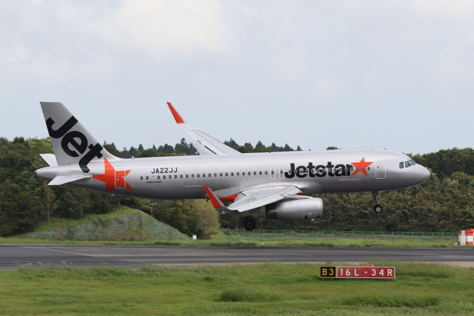 宮崎 育男さんのジェットスター・ジャパン Airbus A320 (JA22JJ) 航空フォト