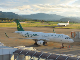 さんぜんさんが、高松空港で撮影した春秋航空 A320-214の航空フォト(写真)