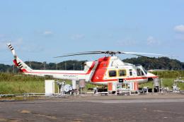 banshee02さんが、龍ケ崎飛行場で撮影した朝日航洋 412の航空フォト(飛行機 写真・画像)