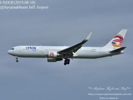 masarunphotosさんが、スワンナプーム国際空港で撮影したアルキア・イスラエル・エアラインズ 767-306/ERの航空フォト(飛行機 写真・画像)