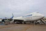 安芸あすかさんが、ル・ブールジェ空港で撮影したエールフランス航空 747-128の航空フォト(写真)