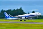 マツさんが、鹿児島空港で撮影した全日空 A321-272Nの航空フォト(写真)