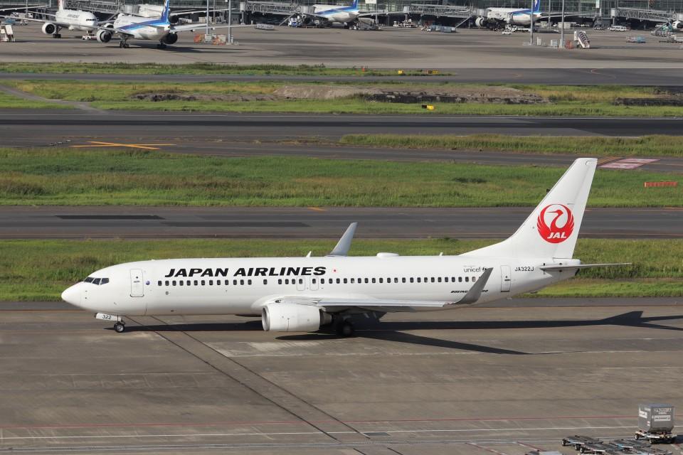 KAZFLYERさんの日本航空 Boeing 737-800 (JA322J) 航空フォト