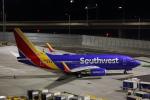 安芸あすかさんが、サンフランシスコ国際空港で撮影したサウスウェスト航空 737-7H4の航空フォト(写真)
