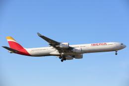 安芸あすかさんが、ロンドン・ヒースロー空港で撮影したイベリア航空 A340-642Xの航空フォト(写真)