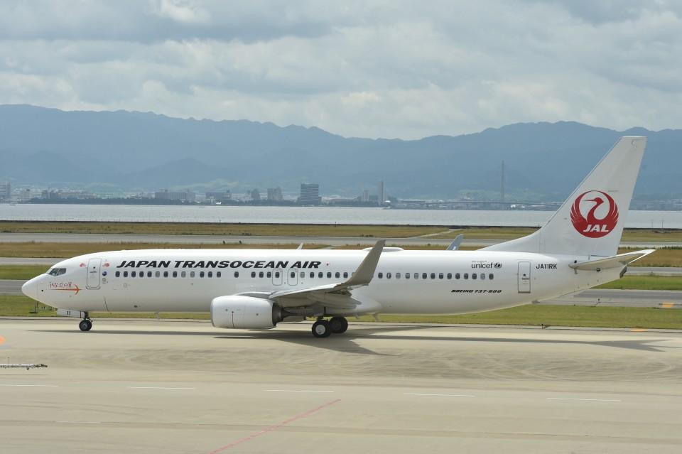 B747‐400さんの日本トランスオーシャン航空 Boeing 737-800 (JA11RK) 航空フォト
