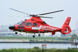 storyさんが、堀切水辺公園(東京都葛飾区)で撮影した東京消防庁航空隊 AS365N3 Dauphin 2の航空フォト(飛行機 写真・画像)