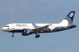 セブンさんが、成田国際空港で撮影したオーロラ A319-111の航空フォト(飛行機 写真・画像)