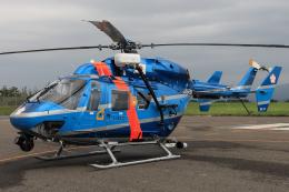西風さんが、花巻空港で撮影した岩手県警察 BK117C-1の航空フォト(飛行機 写真・画像)