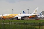 セブンさんが、成田国際空港で撮影したノックスクート 777-212/ERの航空フォト(飛行機 写真・画像)