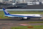 セブンさんが、羽田空港で撮影した全日空 767-381の航空フォト(飛行機 写真・画像)