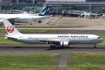 セブンさんが、羽田空港で撮影した日本航空 767-346の航空フォト(飛行機 写真・画像)