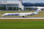 PASSENGERさんが、ミュンヘン・フランツヨーゼフシュトラウス空港で撮影したアドリア航空 CL-600-2D24 Regional Jet CRJ-900の航空フォト(写真)