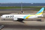 セブンさんが、羽田空港で撮影したAIR DO 767-381/ERの航空フォト(飛行機 写真・画像)