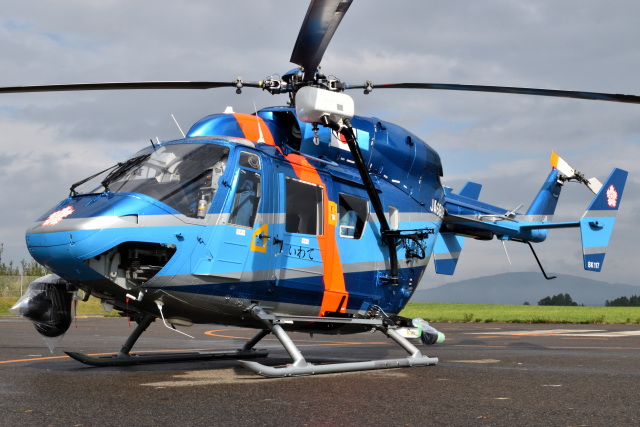 ミルハスさんが、花巻空港で撮影した岩手県警察 BK117C-1の航空フォト(飛行機 写真・画像)