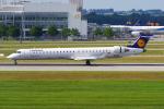 PASSENGERさんが、ミュンヘン・フランツヨーゼフシュトラウス空港で撮影したルフトハンザ・シティライン CL-600-2D24 Regional Jet CRJ-900LRの航空フォト(写真)