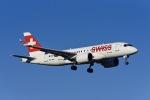Frankspotterさんが、チューリッヒ空港で撮影したスイスインターナショナルエアラインズ BD-500-1A10 CSeries CS100の航空フォト(写真)