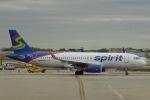 SIさんが、オヘア国際空港で撮影したスピリット航空 A320-232の航空フォト(写真)