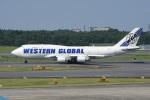 神宮寺ももさんが、成田国際空港で撮影したウエスタン・グローバル・エアラインズ 747-446(BCF)の航空フォト(写真)